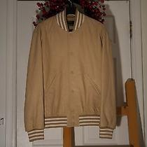 Givenchy Beige Leather Bomber Jacket Photo