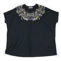 Givenchy Birds of Paradise Collar Baggy Tee - Black Size Xs Photo