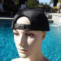Givenchy Black Calf Hair Brimless Baseball Hat Cap Sz 57790 Nwotu Save 560 Photo