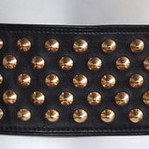 Givenchy  Black Gold Leather Studded Unique Rare Wide Waist Belt Sz L Perfect Photo