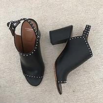 Givenchy Black Leather Studded Slingback Mules 37 Immaculate Photo