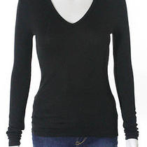 Givenchy Black Long Sleeve v-Neck Sweater Sz Xs  Photo