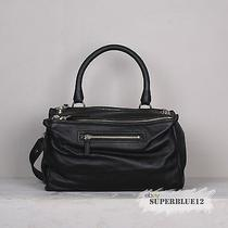 Givenchy Black Medium Pandora Bolt Studs Messenger Free Shipping Goat Leather Photo