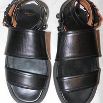 Givenchy Black Nappa Leather Jewel Stud Sandals Sz. 37  Photo