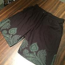 Givenchy Black Paisley Shorts Photo