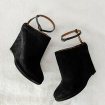 Givenchy Black Suede Ankle Strap Wedge Mule Booties Womens Sz 38 W/ Box Photo