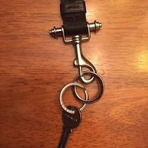 Givenchy Blacktextile Lanyard Necklace Key Ring With Unused Logo Key Photo