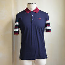 Givenchy Cool Hdg Multicolor Blue Burgundy White Gray Striped Polo T Shirt S L Photo