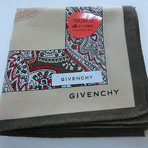 Givenchy Cotton 100% Beige Paisely Handkerchief New  License Made in Japan Photo