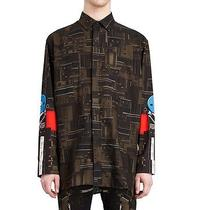 Givenchy Dark Circuit 17 Deck Tape Rottweiler Shark Oversized Shirt Size 40 (L) Photo