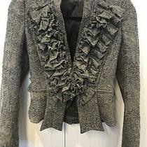Givenchy Designer Wool Blazer Charcoal Size 38 Photo