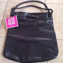 Givenchy Faux Leather Promotional Parfum Black Tote Hand Bag Purse Satchel Nwt Photo