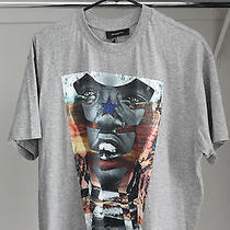 Givenchy Gray Sunset Face Star T-Shirt Mens Xs Ss14 - Brand New With Tags Photo