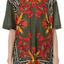 Givenchy Iris Birds of Paradise Print Tshirt Top 100% Authentic Khaki Rrp 690 Photo