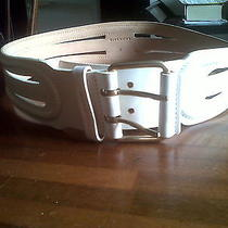 Givenchy Ivory Leather  Belt Authentic  Photo