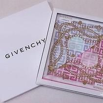 Givenchy License in Japan Chain Metal Logo Print Handkerchief Mini Scarf Box Set Photo