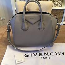 Givenchy Medium Antigona Leather Medium Grey Handbag  Photo