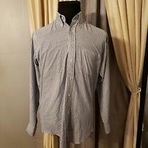 Givenchy Monsieur Mens Blue White Striped Dress Shirt Sz 15-32/33  Long Sleeve Photo