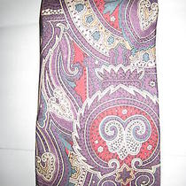 Givenchy Monsieur Mens Multi Color Tie  Paisley 100% Silk  Photo