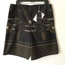 Givenchy Nwt Mens Shorts Bermuda Cotton Black Size 52 Made in France Photo
