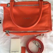 Givenchy Pandora Small Leather Shoulder Bag in Bright Orange Photo
