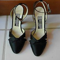 Givenchy  Paris Black Sandals Heels Shoes Size 6 1/2  S   Photo