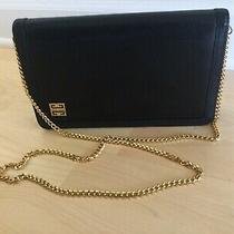 Givenchy Paris Classic Vintage Black Leather Crossbody Clutch Bag Purse  Photo