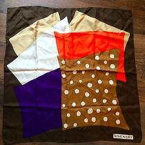 Givenchy Paris Geometric Retro Fall Silk Scarf Photo