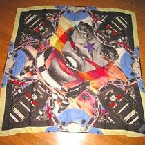 Givenchy Paris Sunset Tribal Face 17 Scarf Italy Retail 570 Free World Shipping Photo