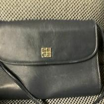 Givenchy Paris Vintage Clutch  Crossbody Purse Navy Bue Photo