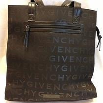 Givenchy Perfume Black Shopper Tote Overnight Computer Bag New Photo