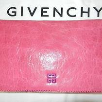 Givenchy Pink Leather Large Clutch New With Tags Photo