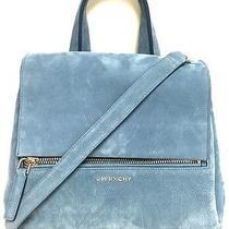 Givenchy Pure Pandora Blue Suede Handbag Photo