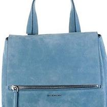 Givenchy Pure Pandora Medium in Light Blue Suede Photo