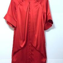 Givenchy Red Dress  Silk Cocktail Size 34 Photo