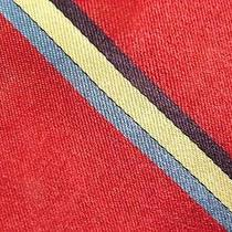 Givenchy Red Gold Slateblue Darkred Stripe Silk Necktie Tie Mmh20-1 Photo