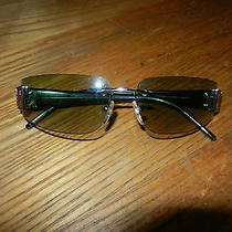 Givenchy Rimless Sunglasses Made in Italy Sgv 051 Ruthenium Green Lk Photo