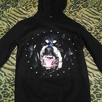 Givenchy Rottweiler Print Cotton Jersey Print Studded Hoodie Sweater  Large Photo