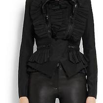 Givenchy Rrp 2999 Black Ruffled Taffeta Jacket Bnwts Photo
