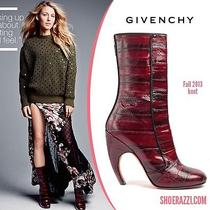 Givenchy Runway Luna Striped Leather Boots Red Sz. 7.5 Us/ 3.75 Eur Photo