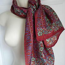 Givenchy Scarf 100% Silk Twill Merlot Stunning Florals 15