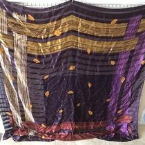 Givenchy Scarf Burgundy Purple Gold Really Gorgeous Oversized 54x54- Vintage Photo