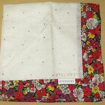 Givenchy See-Through Flowers Scarf Handkerchief 48cm /nameko Photo