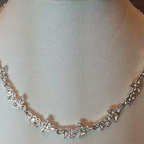 Givenchy Silver-Tone Swaraowski Crystal Feminine Floral Necklace and Earring Set Photo