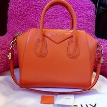 Givenchy Small Antigona Orange Bag Smooth Leather Satchel Pandora Box Hot 2050 Photo