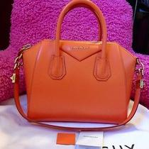 Givenchy Small Antigona Orange Bag Smooth Leather Satchel Pandora Box Hot 2050 Photo