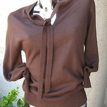 Givenchy Sport Cashmere Sz32 Front Tie Dark Brown Women's Knit Sweater/blouse Photo