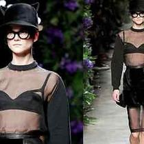 Givenchy Sporty Elegant See Through Top Fall 2011 Photo