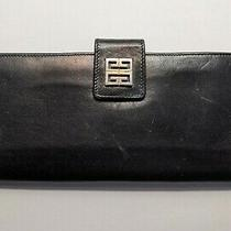 Givenchy Vintage Black Leather Clutch Wallet - Check  Cardholder  Photo