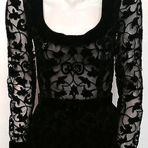 Givenchy Vintage Lace & Velvet Black Dress Photo